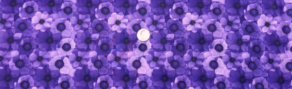Purple tonal flowers packed. Misty by Timeless Treasures CD6843. Fabric by the yard.
