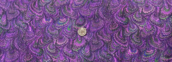 Purple, blue and green feathery swirls. Library of Rarities by R. Kaufman 19602 - Fabric by the yard