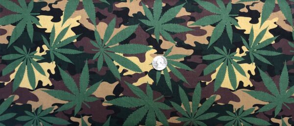 Cannabis all over camo. David Textiles 6364 - Fabric by the yard