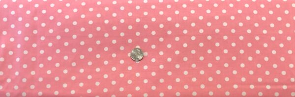 """Classic 1/4"""" white dots on pink cotton. Pink & white polka dots. Treasures From the Attic by Choice 49778 - A02 - Fabric by the yard"""