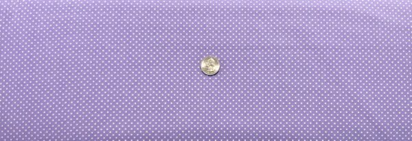 """Classic 1/8"""" white dots on lavender cotton. Purple & white polka dots. Treasures From the Attic by Choice 49777 - A01 - Fabric by the yard"""