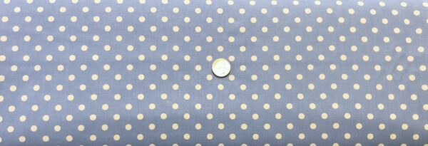 """Classic 1/4"""" white dots on light blue cotton. Blue & white polka dots. Treasures From the Attic by Choice 49778 - A07 - Fabric by the yard"""