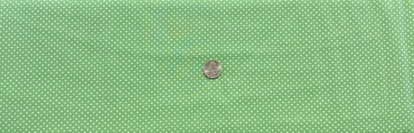"Classic 1/8"" white dots on soft green cotton. Green & white dots. Treasures From the Attic by Choice 49777 - A03 - Fabric by the yard"