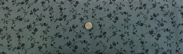 "Quilt backing. Grey with black viney florals on 108"". Choice Fabrics 42250 - 800 - Fabric by the yard."