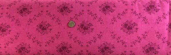 "Quilt backing. Pink on pink tonal floral damask on 108"". Choice Fabrics 46393 - 101 - Fabric by the yard."