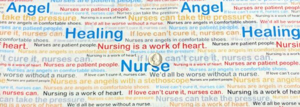 Nurse and doctor fabric. Sweet nurse sayings all over white. Calling All Nurses by Windham Fabrics 37301 - x - Fabric by the yard
