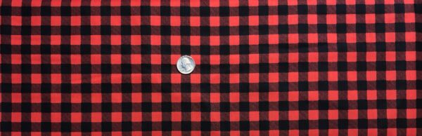 Buffalo check in black and red. Red and black squares. Timber Gnomies by Henry Glass 9270. - Fabric by the yard
