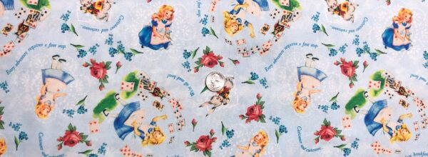 Alice in Wonderland. Sweet Alice by The Buffalo Works. BW 0171 0C - Fabric by the yard