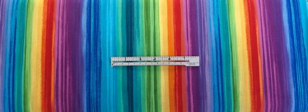 Multicolor rainbow ombre stripe. Pavillion Bright by Timeless Treasures C6323 - Fabric by the yard