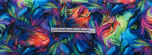 Multicolor fur. Rainbow fur collage. Night Bright by Timeless Treasures C7303 - Fabric by the yard