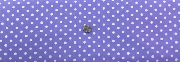 "Classic 1/4"" white dots on lavender cotton. Purple & white polka dots. Treasures From the Attic by Choice 49778 - A01 - Fabric by the yard"