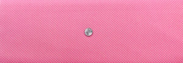 "Classic 1/8"" white dots on pink cotton. Pink & white polka dots. Treasures From the Attic by Choice 49777 - A02 - Fabric by the yard"