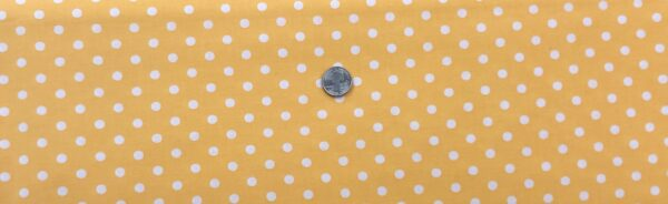 "Classic 1/4"" white dots on buttery yellow cotton. Yellow & white dots. Treasures From the Attic by Choice 49778 - A04 - Fabric by the yard"