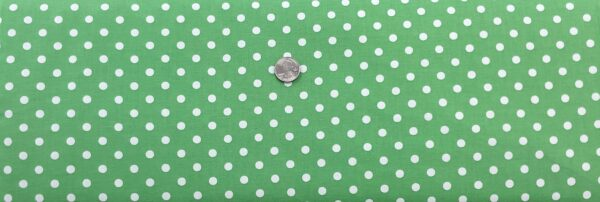 "Classic 1/4"" white dots on soft green cotton. Green & white dots. Treasures From the Attic by Choice 49778 - A03 - Fabric by the yard"