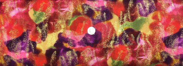 Swirls in orange, purple, red and yellow and metallic gold. Nature by Timeless Treasures CM8284 - Fabric by the yard