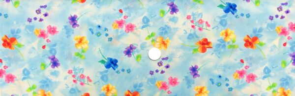 Beautiful bright water color roses on light blue. Blossom by Timeless Treasures c7941 - Fabric by the yard