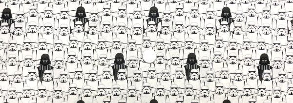 Star Wars fabric. Storm Troopers and Kylo Ren. Portrait Troopers. Camelot Fabrics 73011105 - Fabric by the yard