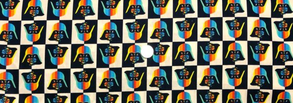 Star Wars fabric. Lucas Rainbow Darth Vader. Camelot Fabrics 73010927 - Fabric by the yard
