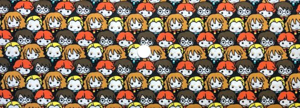 Harry Potter Wizarding World Kawaii characters stacked. Camelot Fabrics 23800228 - Fabric by the yard