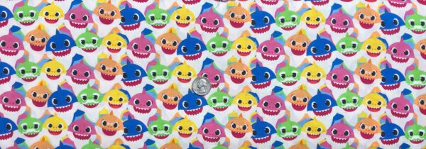 Baby Shark family. Baby Shark Family Packed by Springs 20232- Fabric by the yard