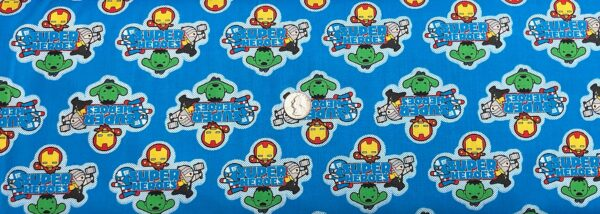 Marvel Super Hero Novelty Comics all over blue by Camelot 13020703 - fabric by the yard