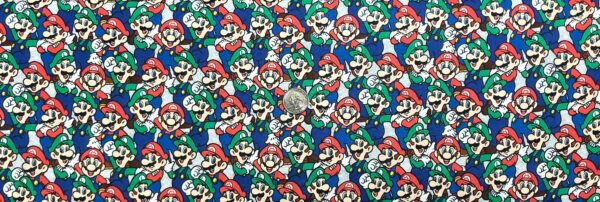 Mario Bros 3! Mario and Luigi packed by Springs 20232 - Fabric by the yard