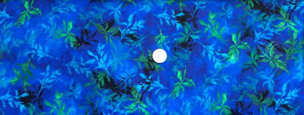 Brilliant tonal blue sprigs tossed. Poppy Cobalt by Timeless Treasues CD6767 - fabric by the yard