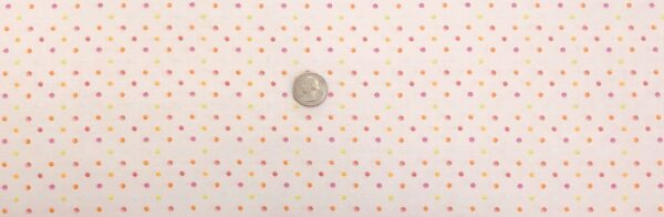 Dots in orange, pink, green and white on pink. Sweet, Tweet and Bunny by Henry Glass and Co 2270 PINK - Fabric by the yard